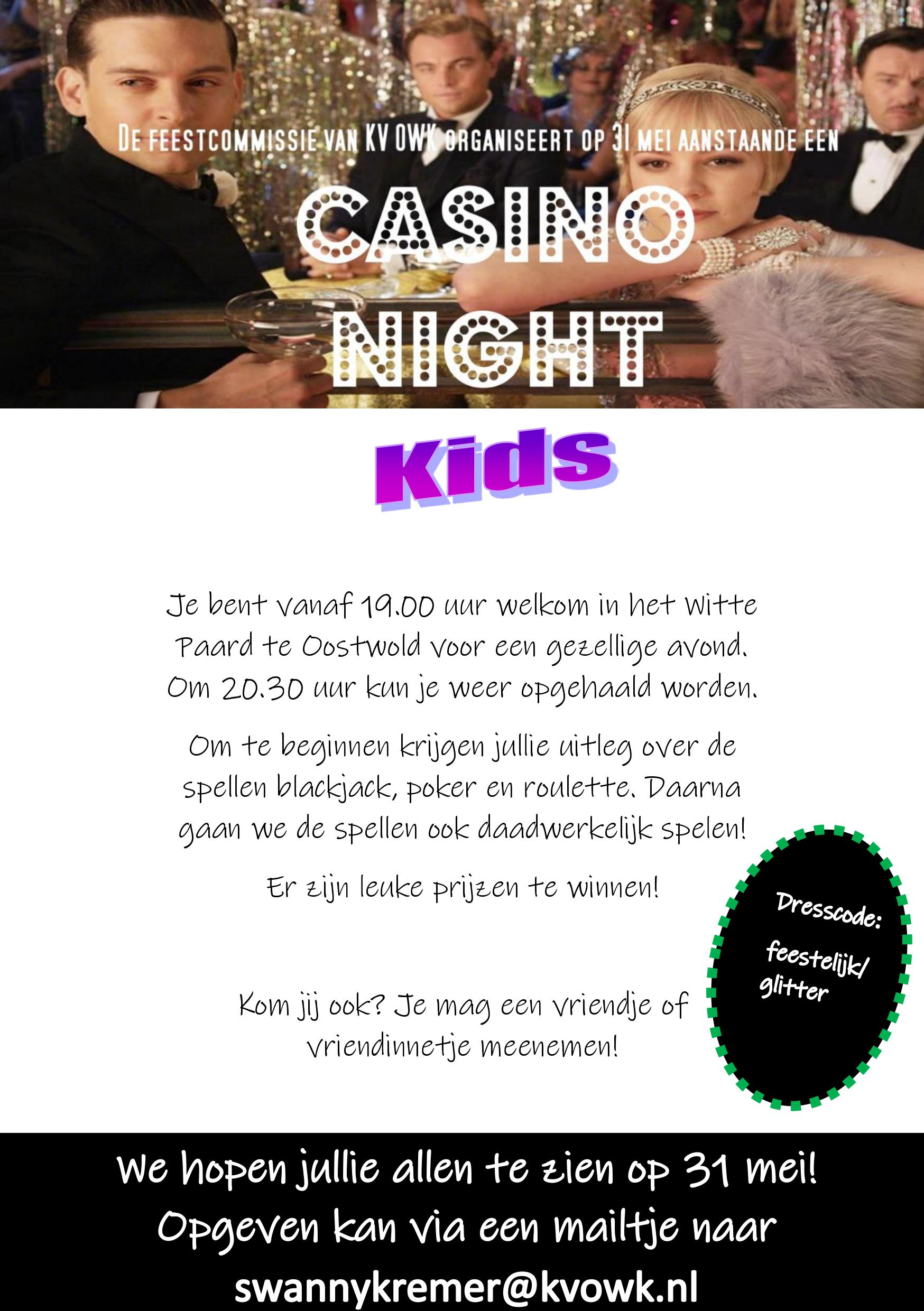 Casino night kids