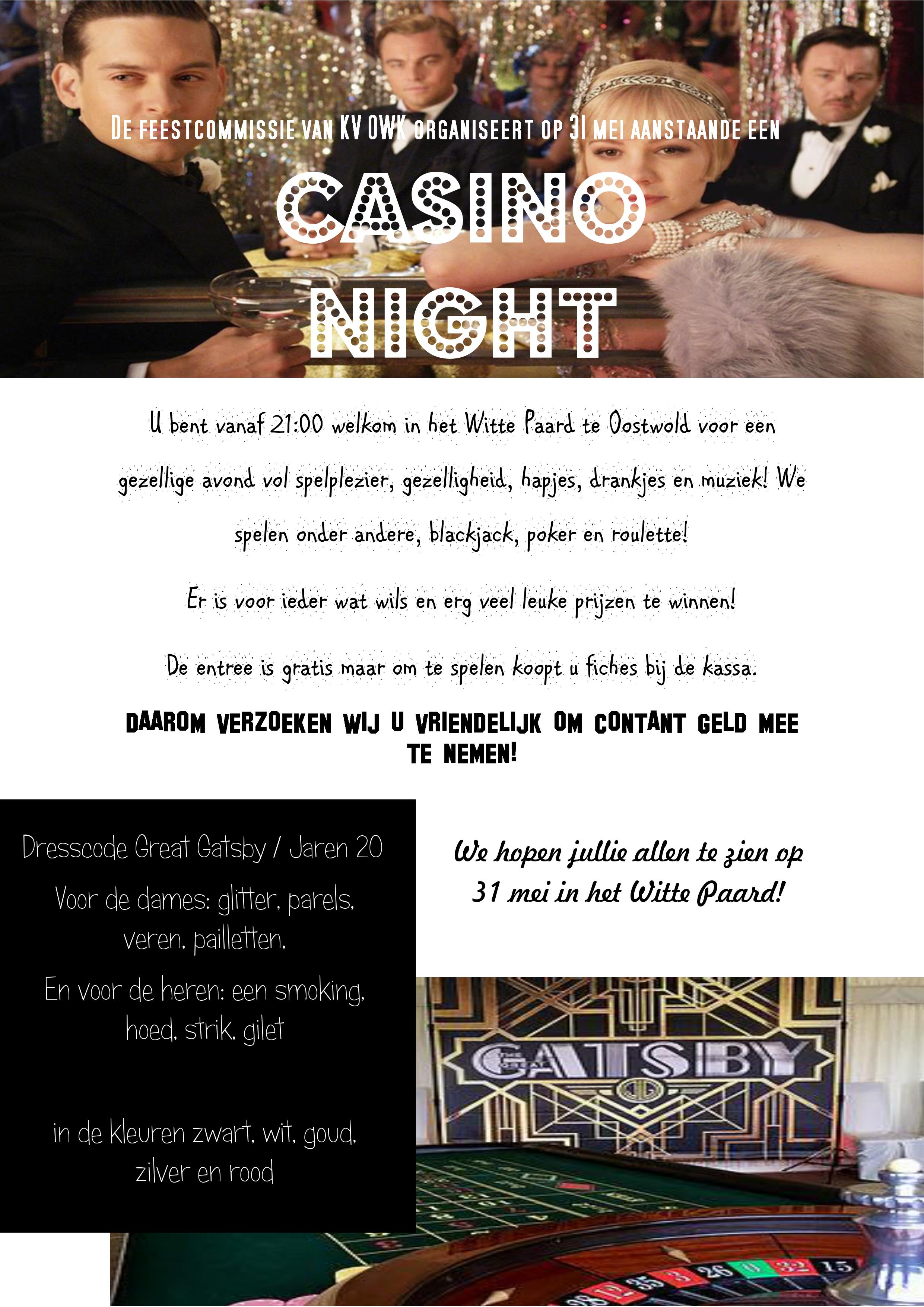 Uitnodiging Casino night